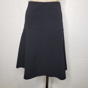 NWT Worthington Black Faux Leather Accent Skirt 6